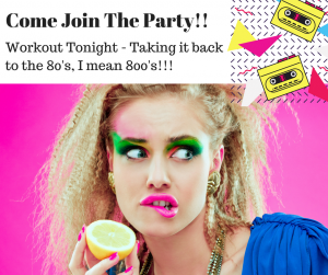 Come Join the Party!! New Start Time Too!!