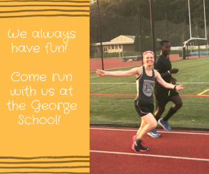 So it's raining out….we run anyways….TRACK TOMORROW!!